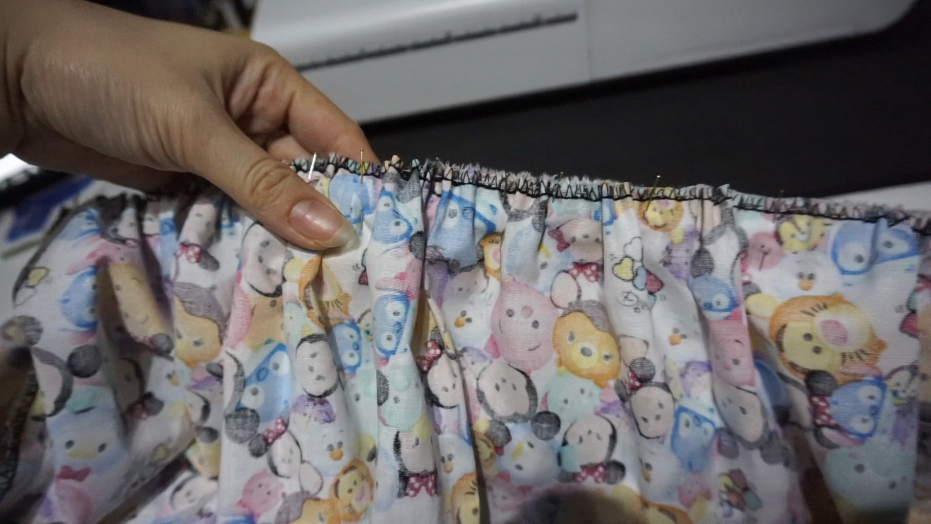 Step 5: Pin and Sew Your Waistband and Skirt Together