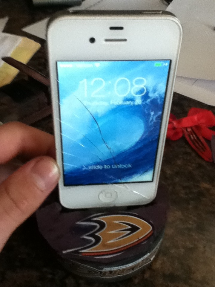 Hockey Puck Mobile Device Stand