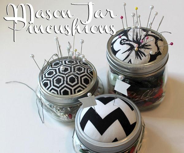 Mason Jar Pincushions!