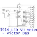 LM3914 based LED VU METER by Victor Das