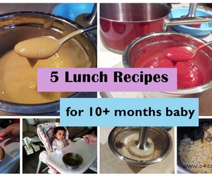5 Lunch Recipes for 10+ Months Baby (stage3 - Homemade Baby Food Recipe)
