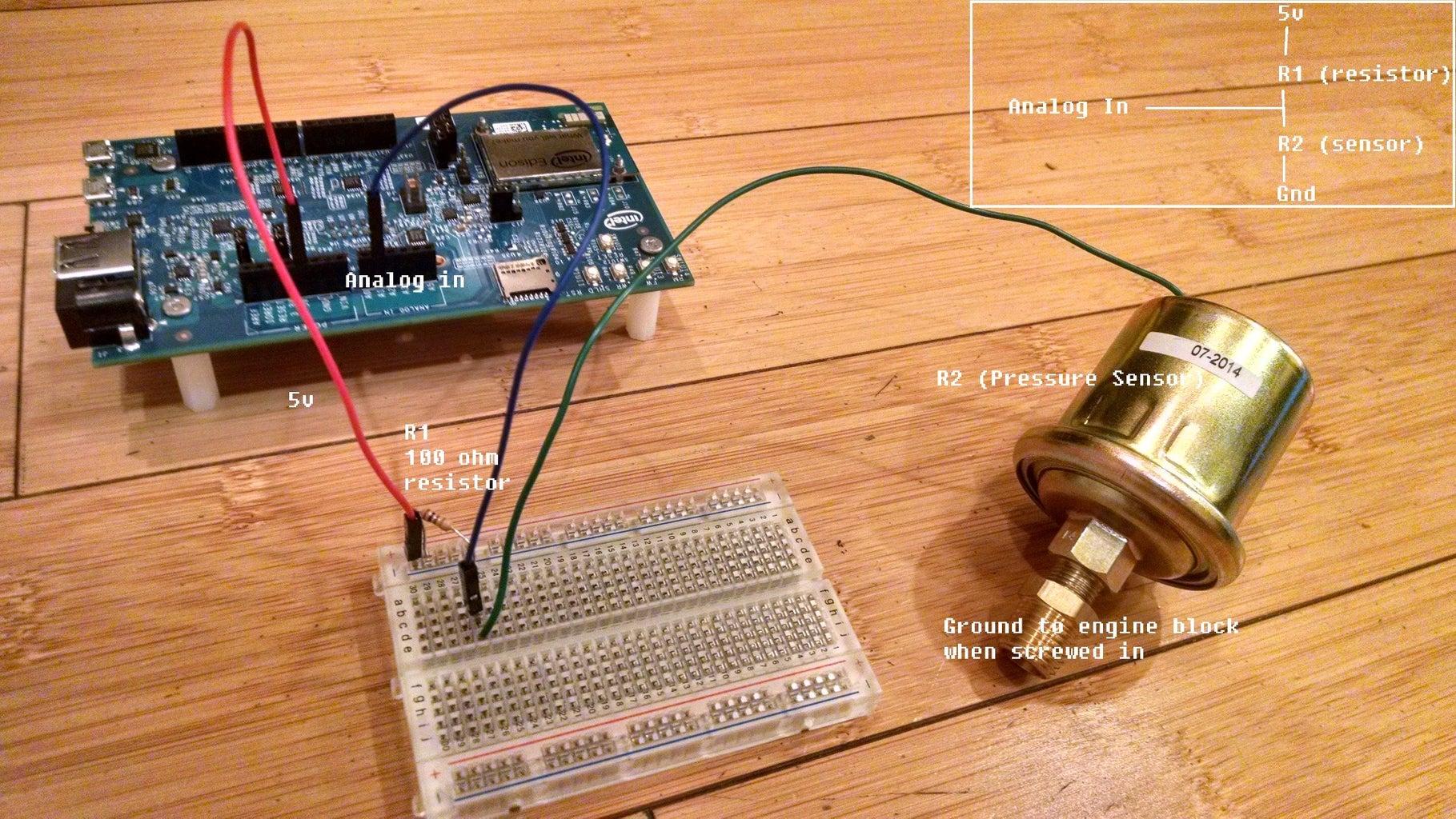 Off the Shelf Sensors (Oil Temperature and Oil Pressure)