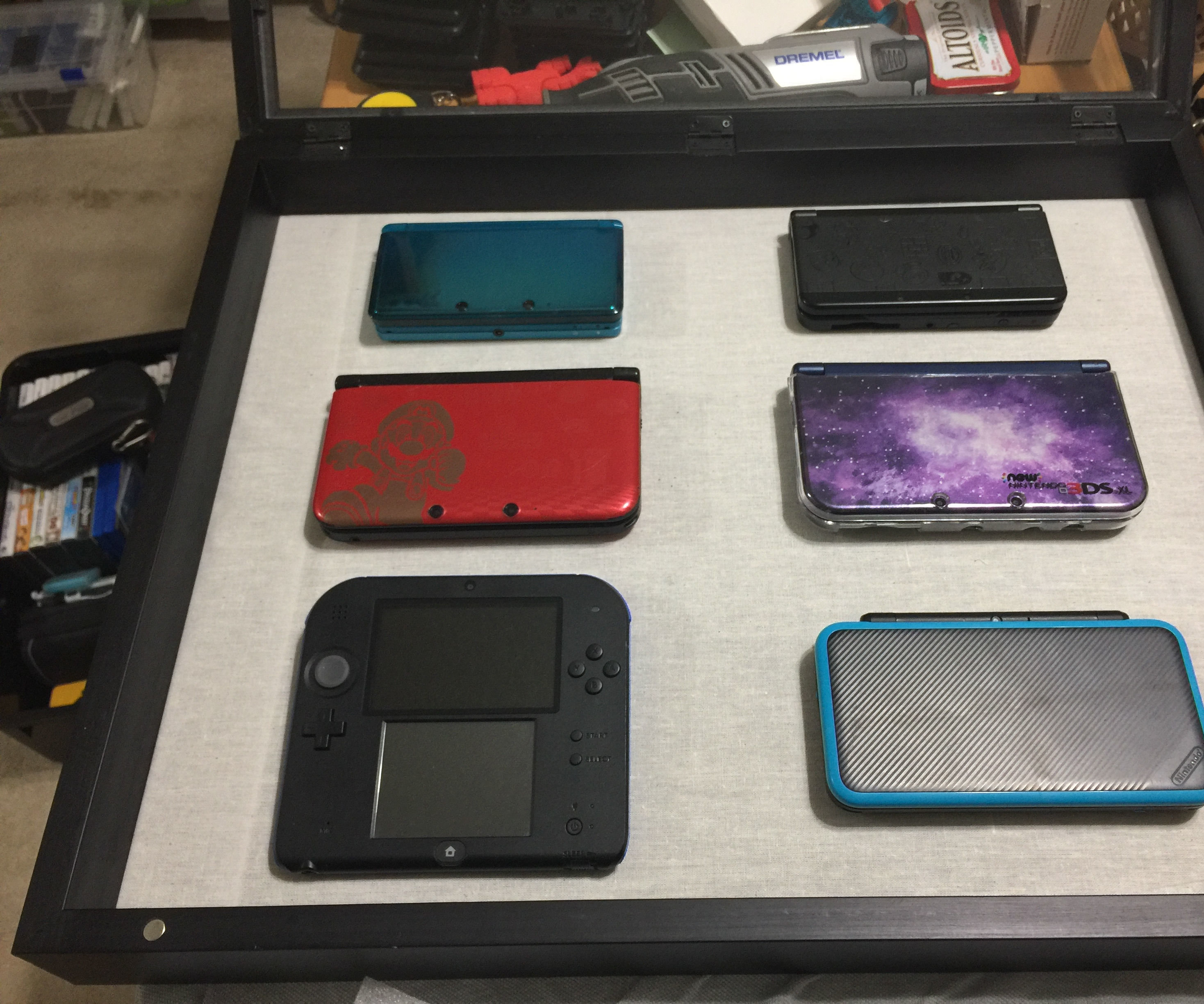 Install Nintendo 3DS Gameboy Consoles in a Shadowbox