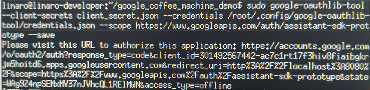 Dragonboard Setup - Credentials Configuration: