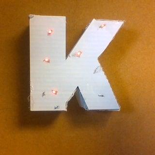 Cardboard Letter Lights