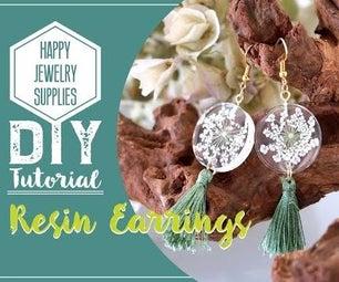 DIY Tutorial-How to Make a Resin Earrings With Tassel!