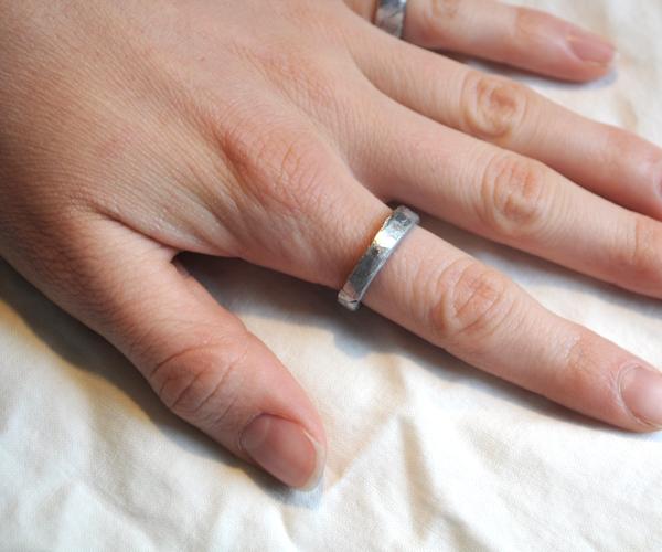 Hammered Aluminum Foil Rings