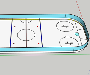 Building a Regulation Sized Hockey Rink in SketchUp