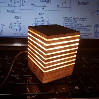 LED Acrylic & Wood Cube Lights