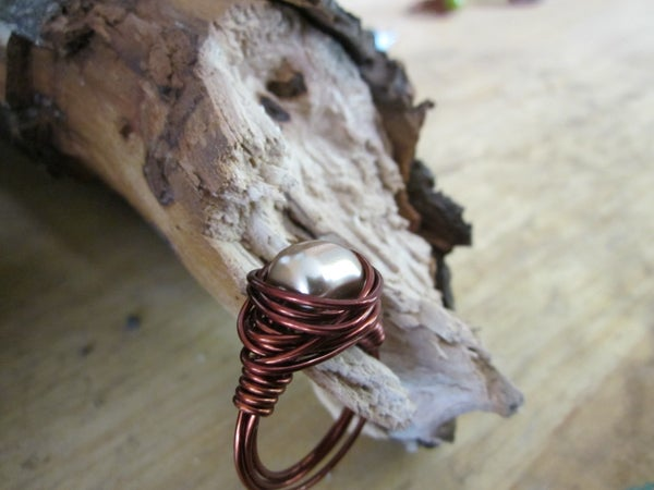 How to Make a Swarovski Pearl Wire Wrapped Ring