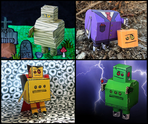 DIY Instructables Robot Halloween Papercrafts