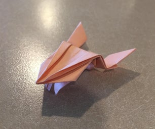 跳跃折纸青蛙