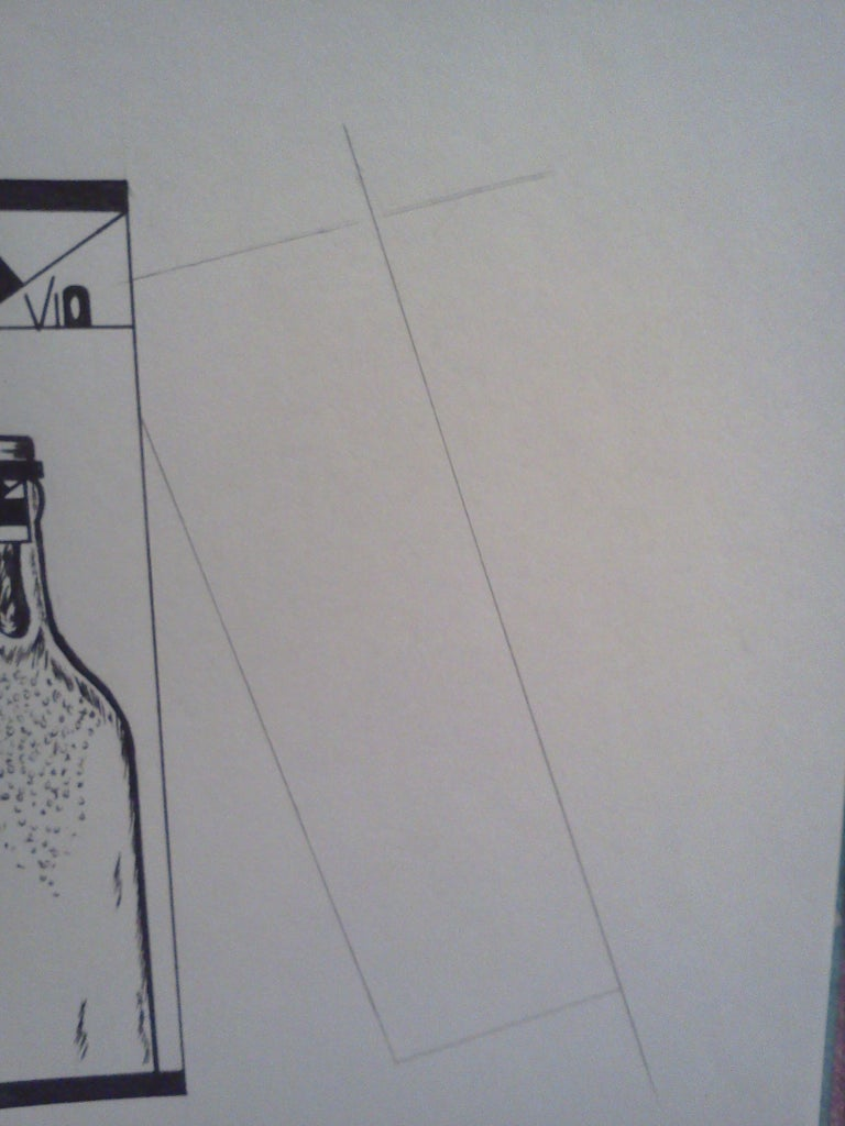 Drawing the Back of the Vio Wine Packaging