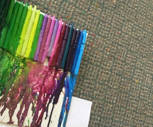 Melted Crayon Canvas