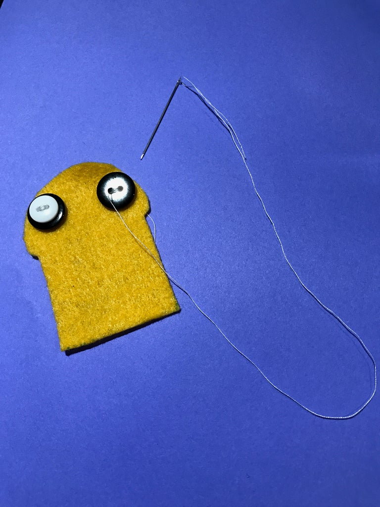 Step 3: Sewing on the Buttons
