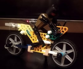 A1 Knex Trick Motorbike With Shock Absorber
