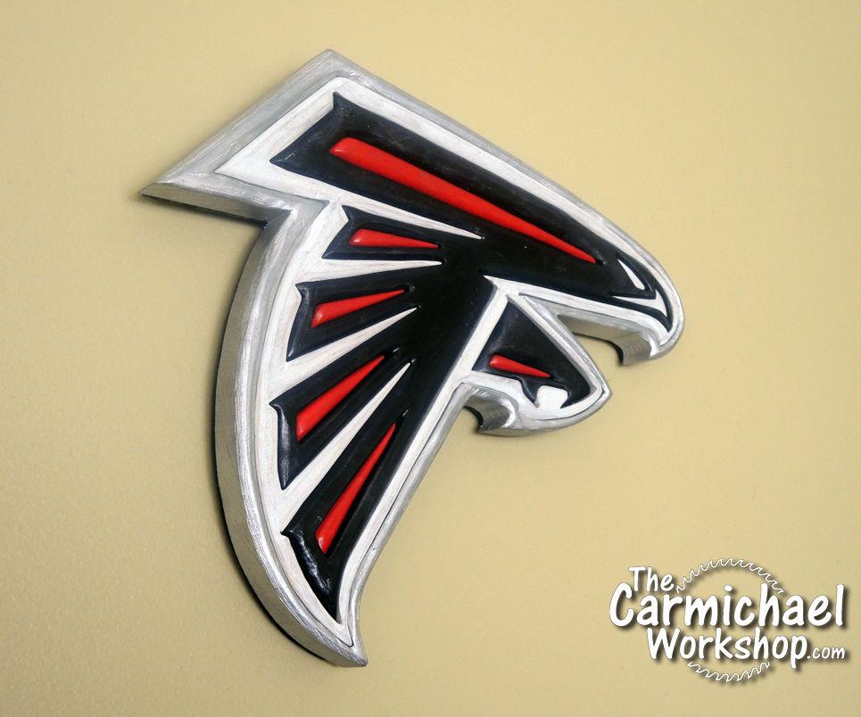 Wooden Atlanta Falcons Logo