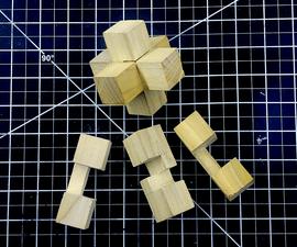 3 Piece Burr Puzzle - Build and Solve