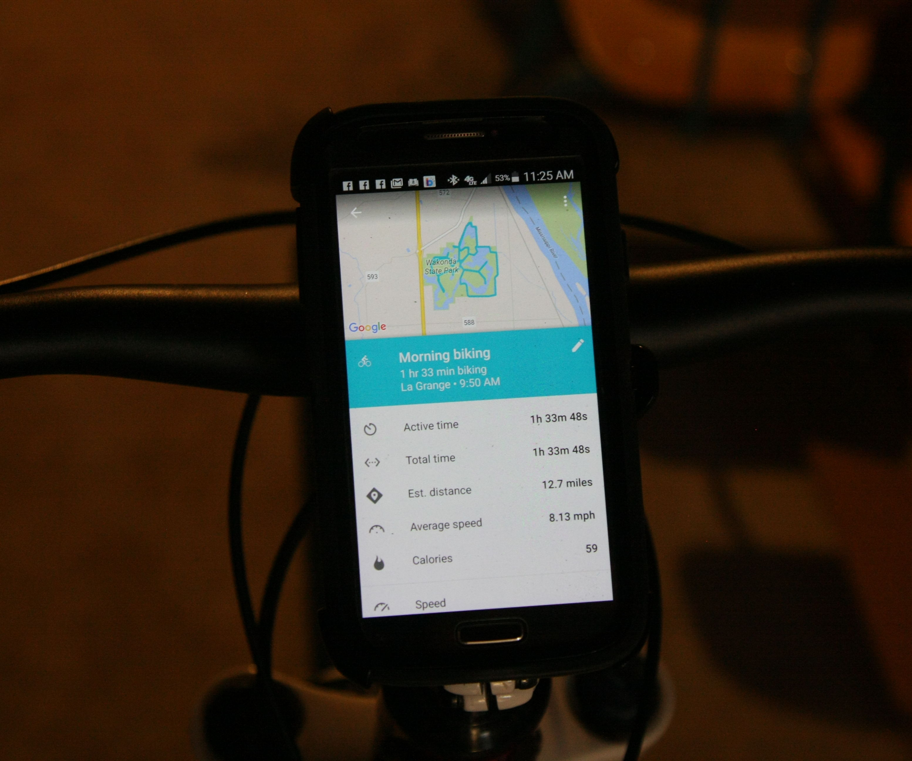 Simple Smartphone Mount for Bicycle