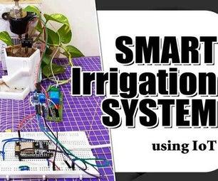基于机置的智能灌溉系统使用Nodemcu ESP8266&Adafruit IO