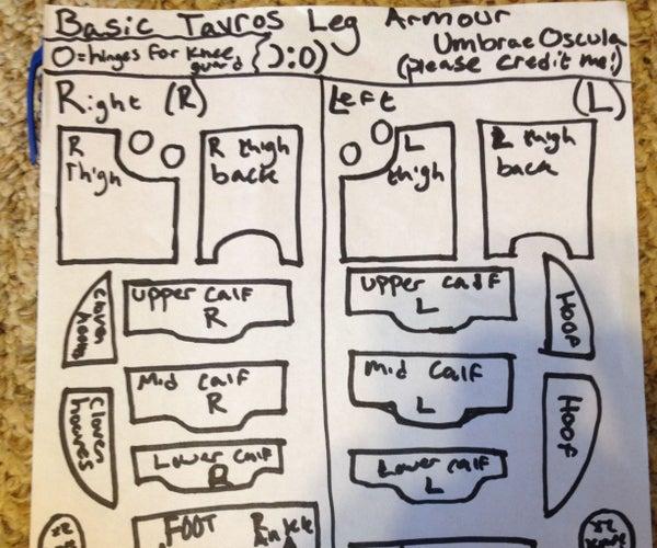 Tavros Robot Legs Part 1- Cutting Out Cardboard