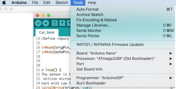 Adding Sonic Sensor