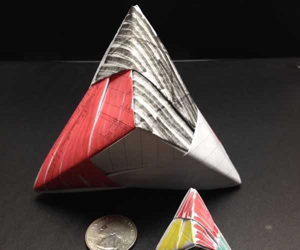 How to Make a Triangular Hexahedron out of Paper (Sonobe Units)