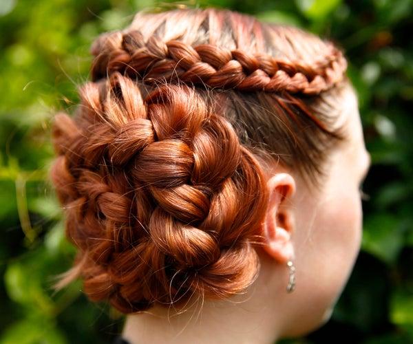 How to Do a Dutch Flower Braid