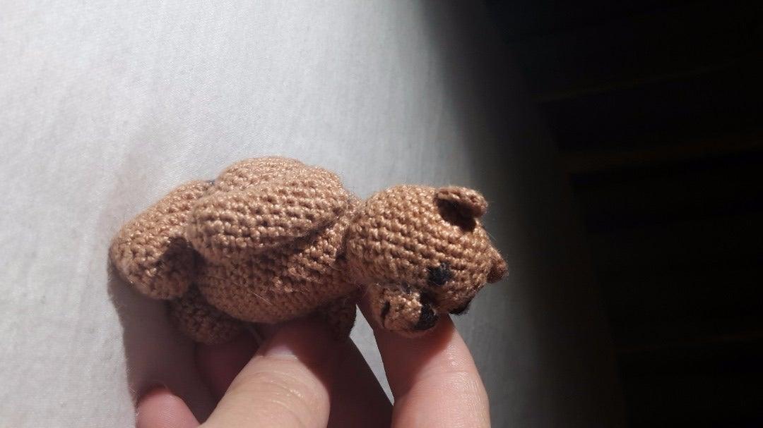 How to Crochet a Tiny Teddy Bear