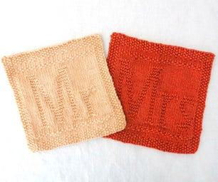 Mr and Mrs Knit Dishcloths