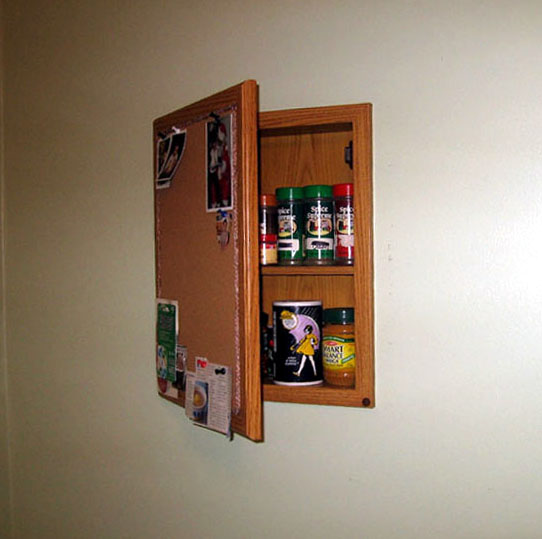 Spice Cabinet or Bulletin Board?