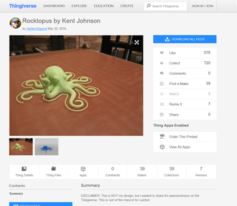 Finding Something to Print on Thingiverse