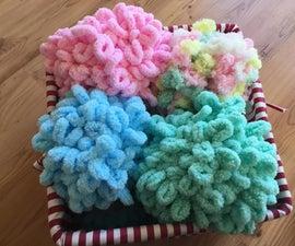 Finger-Knitting Scarves