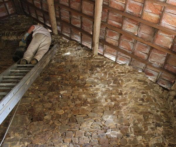 石墙修复-石灰砂浆施工
