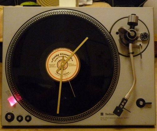 Vintage Vinyle Turntable Clock