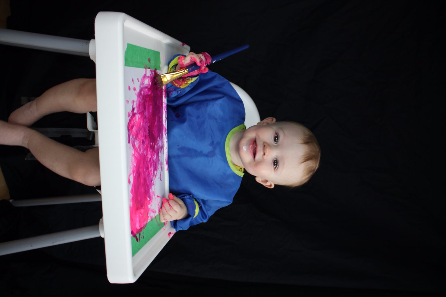 Personalized Gift From Child's Finger Painting