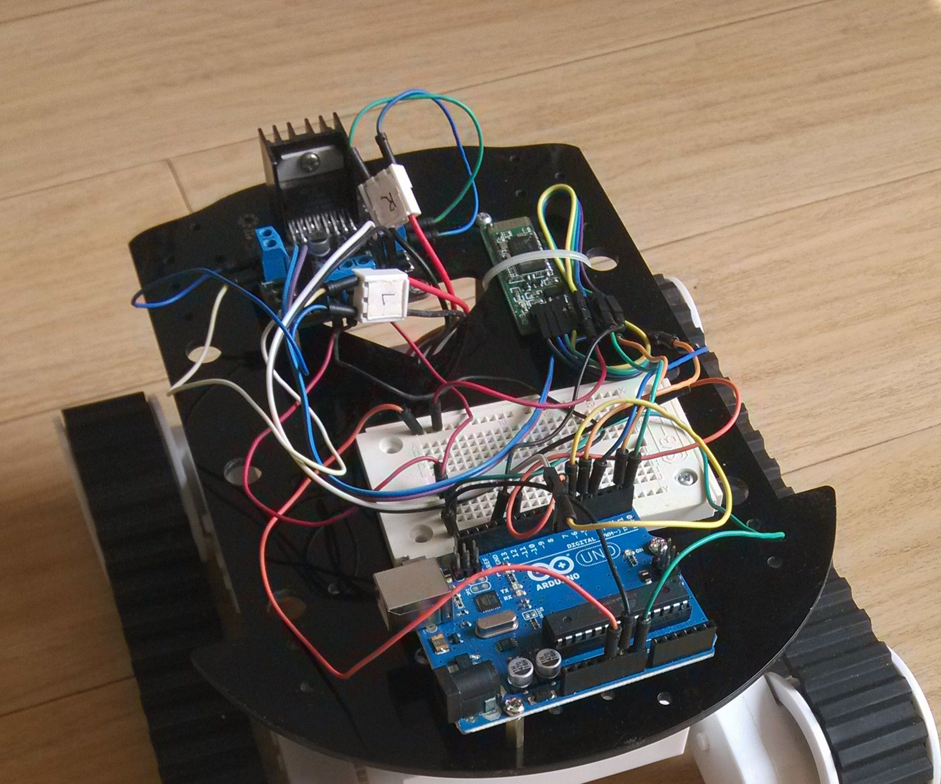 Android通过蓝牙控制Arduino机器人小车
