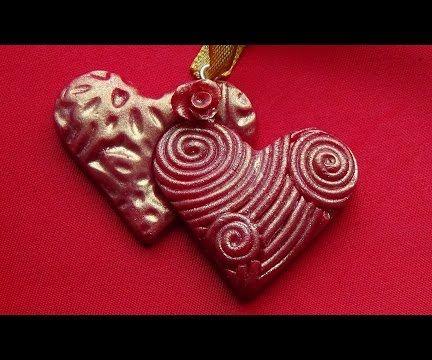 Heart Pendant. Polymer clay tutorial