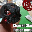 Charred Skull Potion Bottle