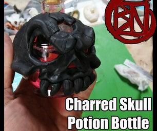 Charred Skull Potion Bottle