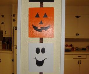 Halloween Wall Decor, Hand Painted.