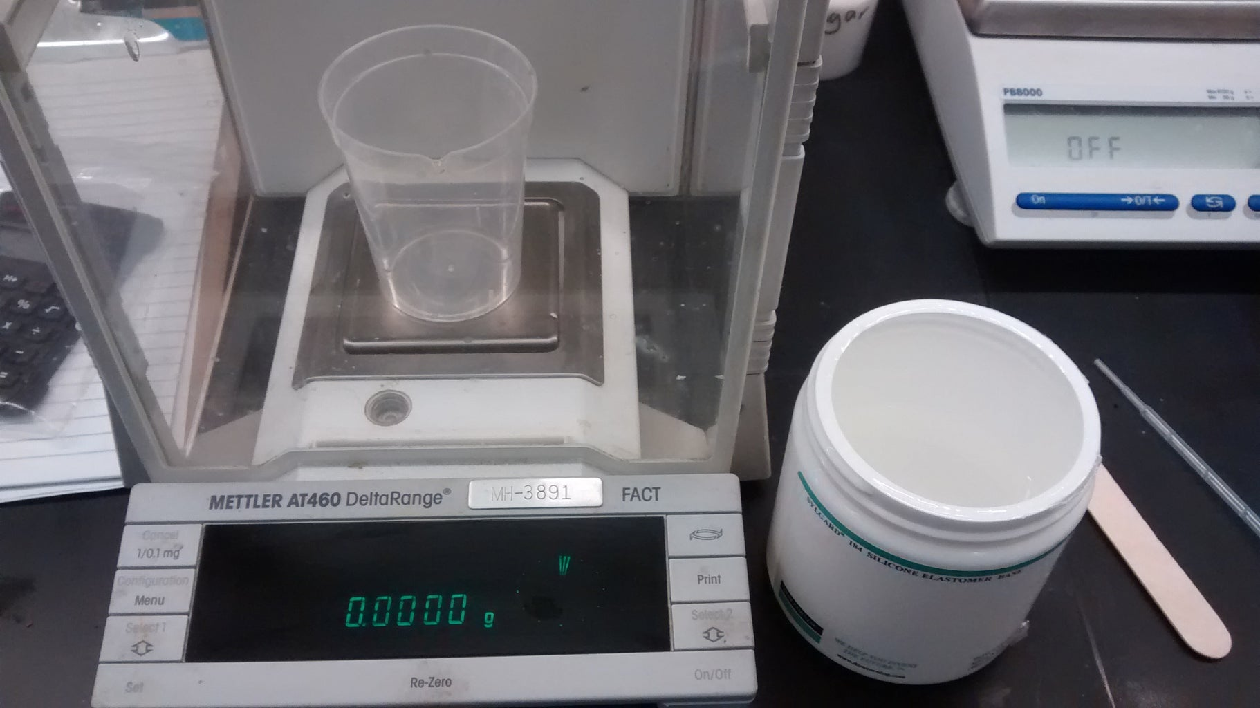Mix the PDMS