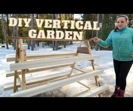DIY Vertical Gutter Garden W/ Auto Water System