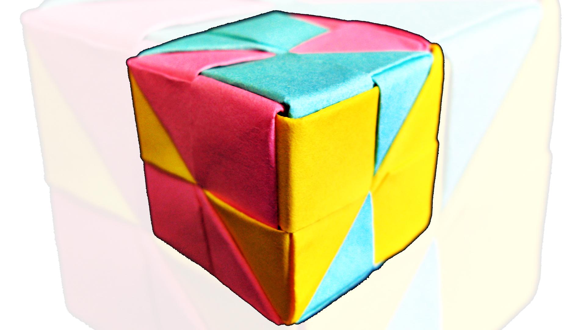 Simple Modular Origami Cube ( 6 pieces)
