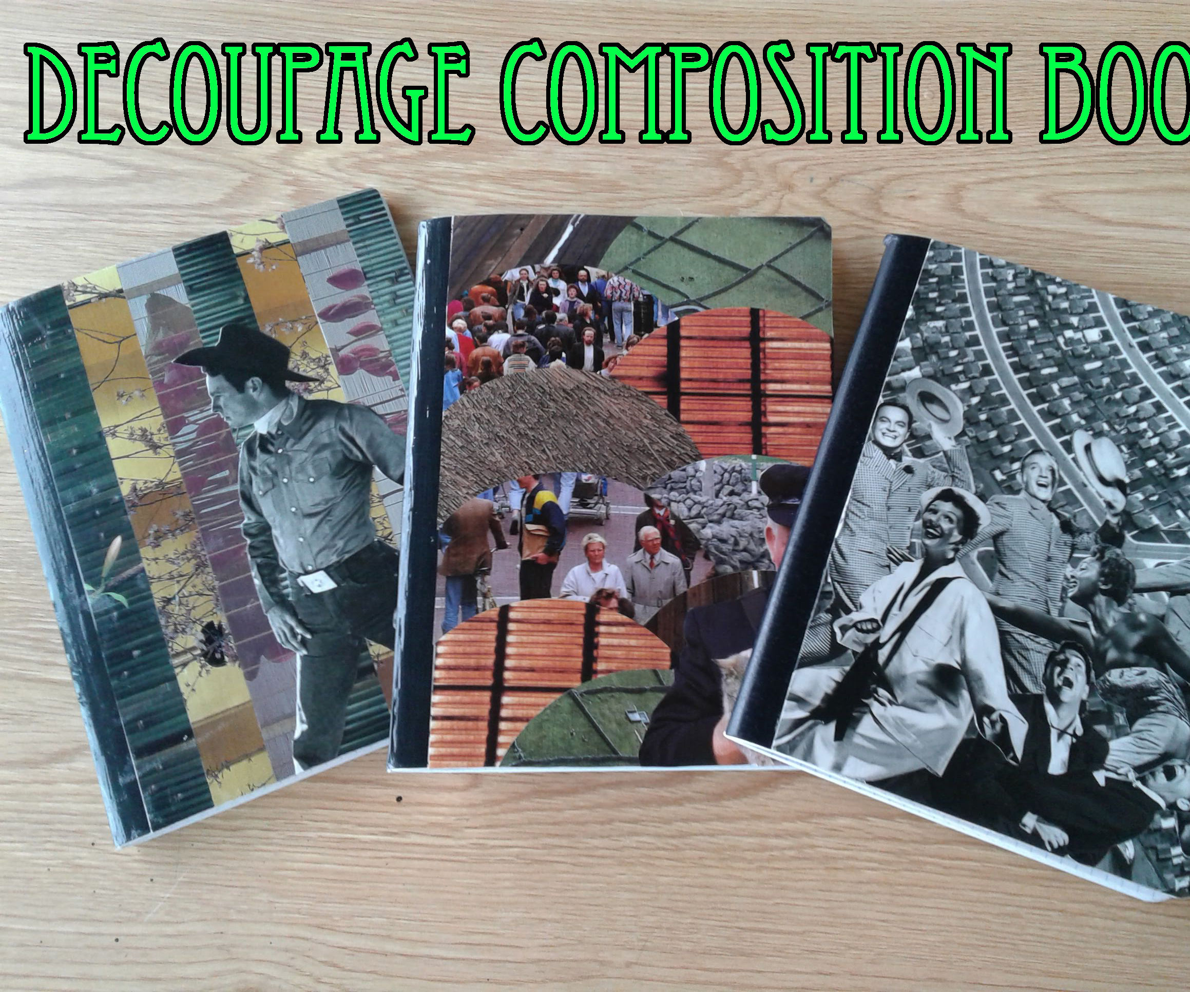 Decoupage Decorated Composition Book