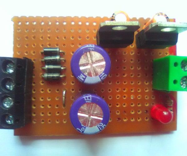 +5V and -5V Dual Regulated Power Supply