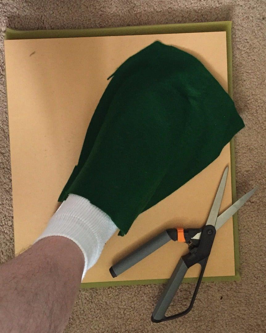 Step 3: Drape the Felt and Trim
