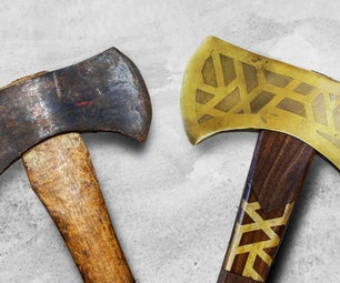Turning Old Into Gold. Restoration and Modification of a Rusty Axe