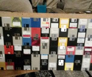 Retro Floppy Wall