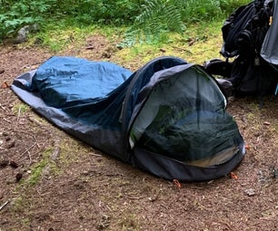 OR Alpine Bivy Sack:  Mod to Keep the Lid Open